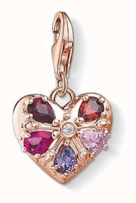 Thomas Sabo Charm Pendant 'Royal Heart' 925 Sterling Silver 18k Rose Go 1494-626-9
