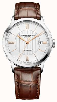Baume & Mercier | Mens Classima | Automatic | Brown Leather | Silver Dial | BM0A10263