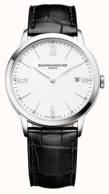 Baume & Mercier | Mens Classima | Black Leather Strap | White Dial | BM0A10323