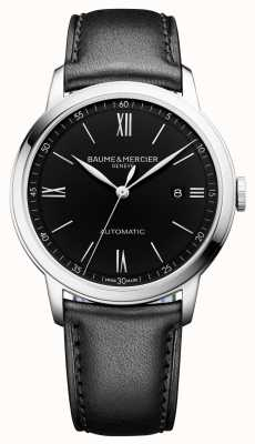 Baume & Mercier | Mens Classima | Automatic | Black Leather | Black Dial | BM0A10453