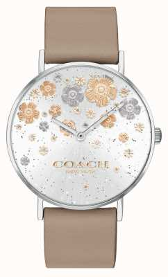Coach | Perry | Stone Leather Strap | Floral Glitter Dial | 14503326