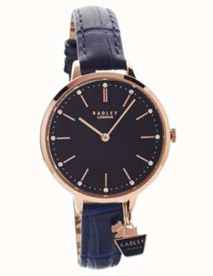 Radley | Ladies Rose Gold Case | Blue Leather Strap | RY2798
