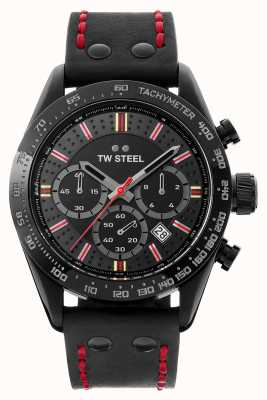 TW Steel Son Of Time Moksha | Chrono | Black Dial | Black Leather TW987