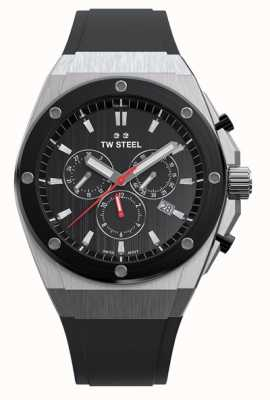 TW Steel CEO Tech | Chrono | Black Dial | Black Rubber Strap CE4042