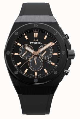 TW Steel CEO Tech | Chrono | Black Dial | Black Rubber Strap CE4044