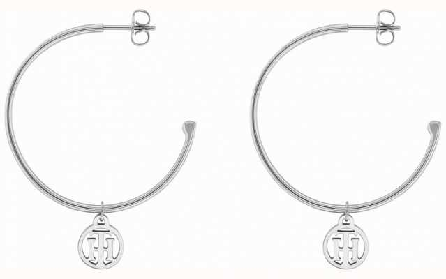 Tommy Hilfiger Womens Stainless Steel Hoop Earrings 2780023