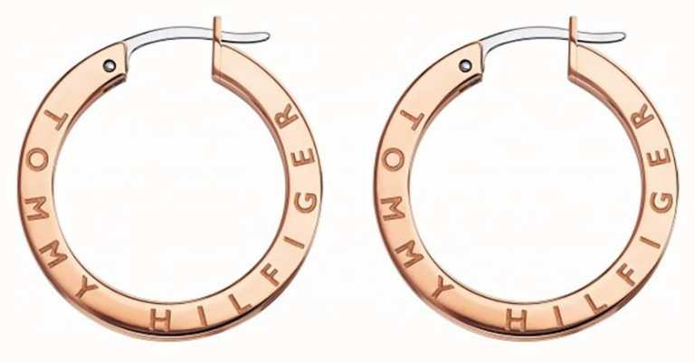 Tommy Hilfiger Womens Rose Gold Plated Crystal Set Earrings 2780207
