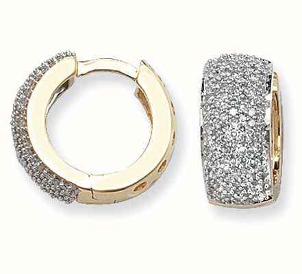 Treasure House 9k Yellow Gold Diamond Huggies ED137
