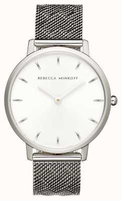 Rebecca Minkoff Womens Major | Stainless Steel Mesh Bracelet | Silver Dial | 2200297