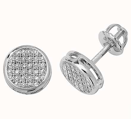Treasure House 9k White Gold Diamond Set Stud Earrings ED140W
