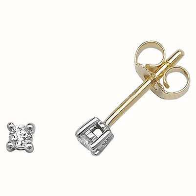 Treasure House 9k Yellow Gold Diamond Stud Earrings ED193