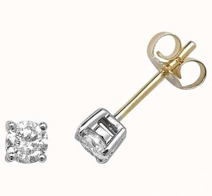 Treasure House 9k Yellow Gold Diamond Stud Earrings ED197