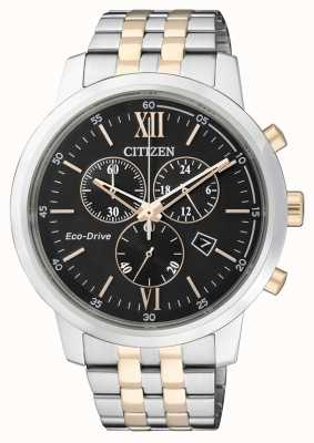 Citizen |Mens Eco-Drive Chronograph | Stainless Steel Strap  | AT2304-50E