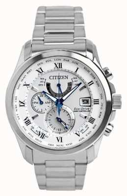 Citizen | Mens Eco-Drive Radio Controlled A.T | Stainless Steel AT9081-89A