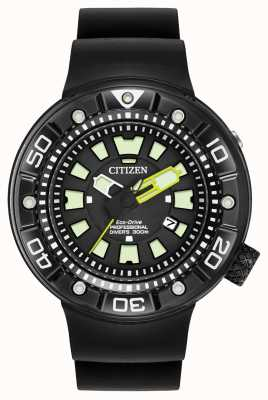 Citizen | Mens Eco-Drive Promaster Diver | Black Rubber Strap | BN0175-01E