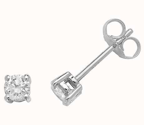 Treasure House 18k White Gold Diamond Stud Earrings EDQ187W