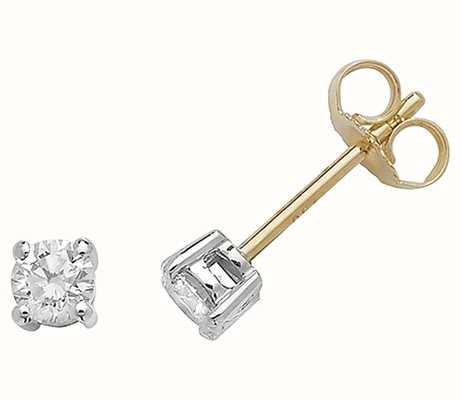 Treasure House 18k Yellow Gold Diamond Stud Earrings EDQ187