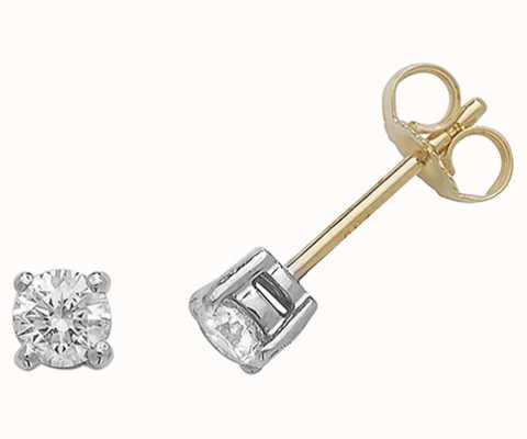 Treasure House 18k Yellow Gold Diamond Stud Earrings EDQ188