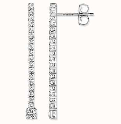 Treasure House 18k White Gold Diamond Drop Earrings EDQ305W