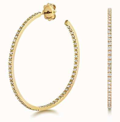 Treasure House 18k Yellow Gold Diamond Hoop Earrings EDQ314