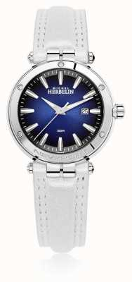 Michel Herbelin | Womens Newport | White Leather Strap | Blue Dial | 14288/AP15BLA
