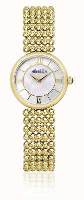 Michel Herbelin | Womens Perle | Gold Tone Bracelet | Mother Of Pearl Dial | 17483/BP19