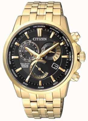 Citizen | Mens Eco-Drive Calibre 8700 | Black Dial | Gold Tone | BL8142-84E