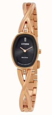 Citizen | Womens Silhouette Eco-Drive | Gold Tone Bracelet | EX1413-55E