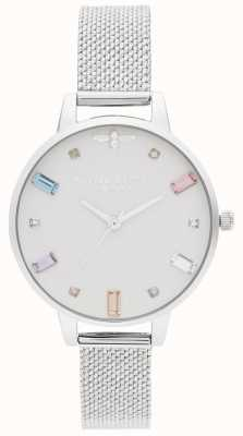 Olivia Burton | Womens | Rainbow Bee | Demi Stainless Boucle Mesh | OB16RB10