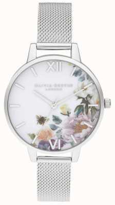 Olivia Burton   Womens   Enchanted Gardens   Steel Mesh Bracelet   OB16EG136