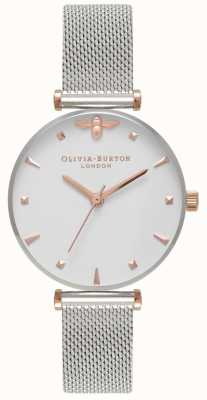 Olivia Burton | Women's | Queen Bee | Stainless Steel Mesh Bracelet | OB16AM140