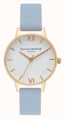 Olivia Burton   Womens   Chalk Blue Strap   White Dial   OB16MDW24