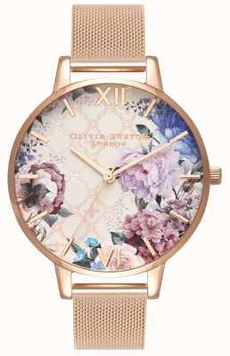 Olivia Burton | Womens | Glasshouse | Rose Gold Mesh Bracelet | OB16EG86