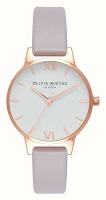 Olivia Burton | Womens | Grey Lilac Strap | White Dial | OB16MDW32