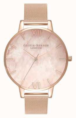 Olivia Burton | Womens | Semi Precious | Rose Gold Mesh Bracelet | OB16SP01