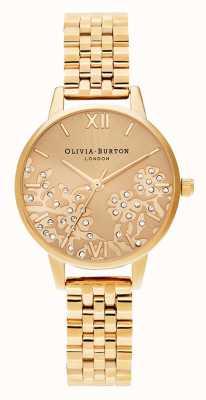 Olivia Burton | Womens | Bejewelled Lace | Gold Tone Bracelet | OB16MV105