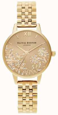 Olivia Burton Womens | Bejewelled Lace | Gold Bracelet OB16MV105