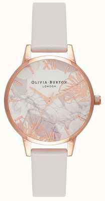 Olivia Burton   Womens   Abstract Florals   Blush Leather Strap   OB16VM12