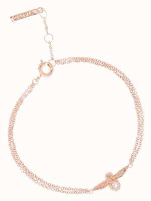 Olivia Burton | Bejewelled Bee | Rose Gold | Rose Quartz | Bracelet | OBJ16AMB26