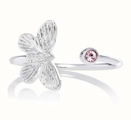 Olivia Burton | Bejewelled Butterfly | Silver | Pink Stone | Ring | OBJ16MBR02
