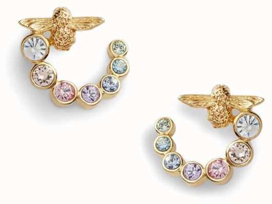 Olivia Burton | Rainbow Bee | Swarovski Swirl | Gold | Earrings | OBJAME132