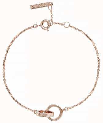Olivia Burton | The Classics | Rose Gold | Interlink Circle | Bracelet | OBJENB13B