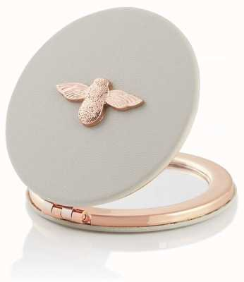 Olivia Burton | 3D Bee | Grey And Rose Gold | Compact Mirror | OBACS50