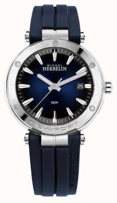 Michel Herbelin | Mens | Newport | Blue Dial | Rubber | 12288/15CB