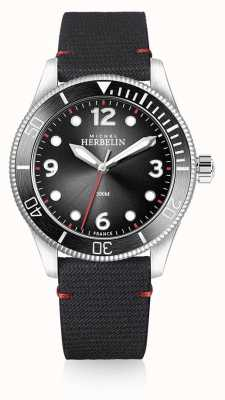 Michel Herbelin | Mens | Trophy | Black Dial | Black Strap | 12260/AN14