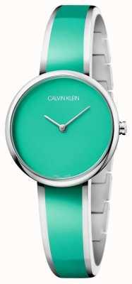 Calvin Klein   Womens Seduce   Stainless Steel Green Resin Bracelet   K4E2N11L