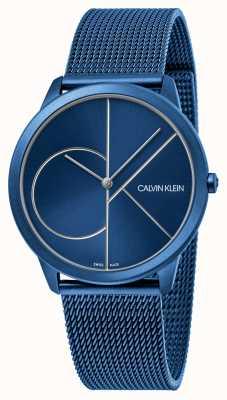 Calvin Klein Minimal   Blue Mesh Bracelet   Blue Dial   K3M51T5N