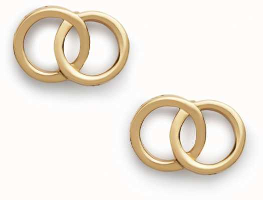 Olivia Burton | The Classics | Gold | Interlink Earrings | OBJCOE73