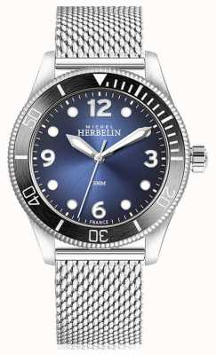 Michel Herbelin | Trophy Quartz | Mens | Blue Dial | Stainless Steel Mesh | 12260/AN15B