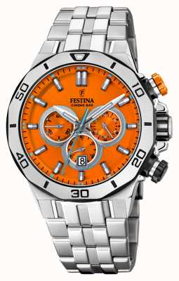 Festina Tour Of Britain 2019 | Stainless Steel  | Orange Dial | F20448/C